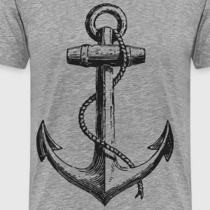 vintage anchor full size - Men's Premium T-Shirt