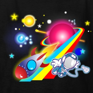 Outer Space Cartoon - Kids' T-Shirt
