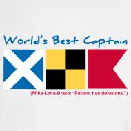 Design ~ World's Best Captain -- Long-sleeve