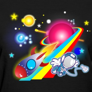 Outer Space Cartoon - Women's T-Shirt