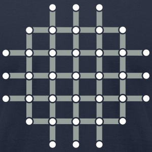Optical illusion, Find the black dot! T-Shirts - Men's T-Shirt by American Apparel