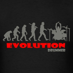 Drummer Drum ape of Evolution - Men's T-Shirt