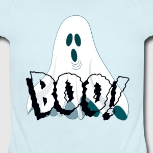 Cute Ghost Says Boo Baby & Toddler Shirts - Short Sleeve Baby Bodysuit