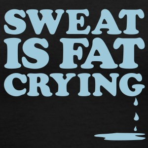 Sweat Is Gym Motivation Women's T-Shirts - Women's V-Neck T-Shirt