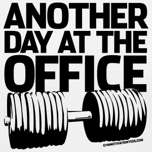 Another Day at the Office - Gym Motivation Women's T-Shirts - Women's V-Neck T-Shirt