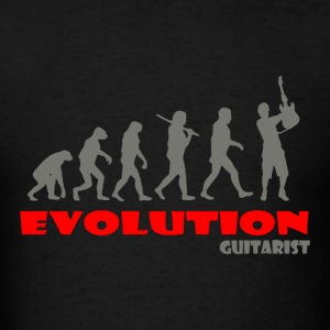 Guitarist Guitar ape of Evolution - Men's T-Shirt