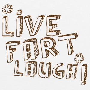 LIVE FART LAUGH joke fart lol Men - Men's Premium Tank