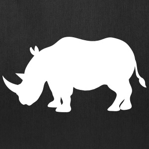 Simple Rhinoceros RHINO  in grey  Bags & backpacks - Tote Bag