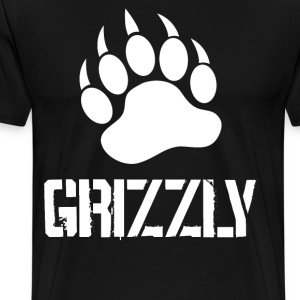 Grizzly Paw … white - Men's Premium T-Shirt