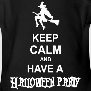 keep calm and have a halloween party Baby & Toddler Shirts - Short Sleeve Baby Bodysuit