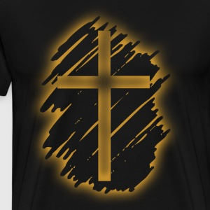 Jesus Christ Son of God Lord Cross - Men's Premium T-Shirt