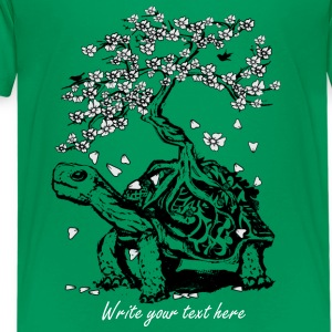 Turtle with a bonsai on the carapace Kids' Shirts - Kids' Premium T-Shirt