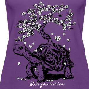 Turtle with a bonsai on the carapace Tanks - Women's Premium Tank Top