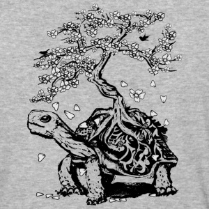Turtle with a bonsai on the carapace T-Shirts - Baseball T-Shirt