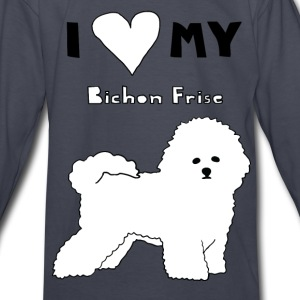 i heart my bichon frise Kids' Shirts - Kids' Long Sleeve T-Shirt
