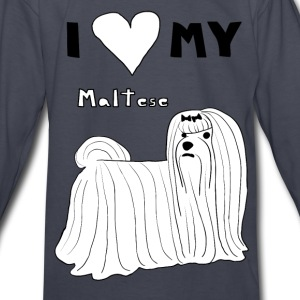 i heart my maltese Kids' Shirts - Kids' Long Sleeve T-Shirt
