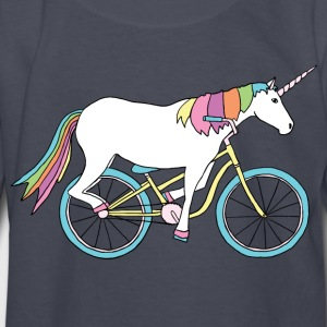 unicorn riding bike Kids' Shirts - Kids' Long Sleeve T-Shirt