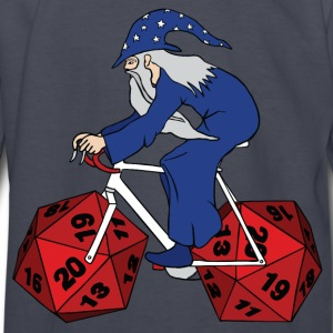 wizard riding bike with 20 sided dice wheels Kids' Shirts - Kids' Long Sleeve T-Shirt