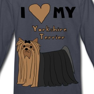 i heart my yorkshire terrier Kids' Shirts - Kids' Long Sleeve T-Shirt