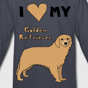i heart my golden retriever Kids' Shirts - Kids' Long Sleeve T-Shirt
