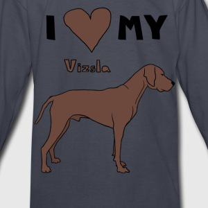 i heart my vizsla Kids' Shirts - Kids' Long Sleeve T-Shirt
