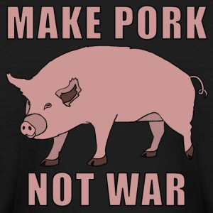 make pork, not war Kids' Shirts - Kids' Long Sleeve T-Shirt