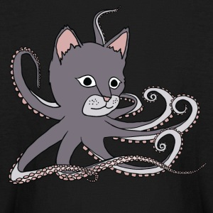 cat octopus Kids' Shirts - Kids' Long Sleeve T-Shirt