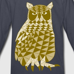 triangle owl (yellow) Kids' Shirts - Kids' Long Sleeve T-Shirt