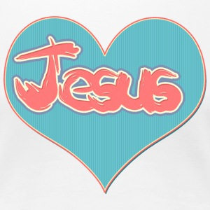 Love Jesus Christ Son of God Lord  - Women's Premium T-Shirt