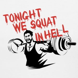 Squat In Hell Gym Motivation Women's T-Shirts - Women's V-Neck T-Shirt