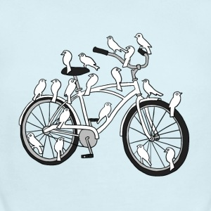 bird bike with white doves Baby & Toddler Shirts - Short Sleeve Baby Bodysuit
