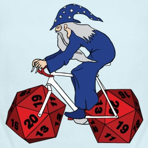 wizard riding bike with 20 sided dice wheels Baby & Toddler Shirts - Short Sleeve Baby Bodysuit