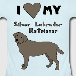 i heart my silver labrador retriever Baby & Toddler Shirts - Short Sleeve Baby Bodysuit