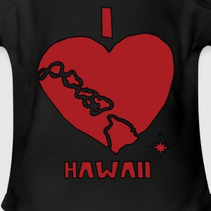 i heart Hawaii (red) Baby & Toddler Shirts - Short Sleeve Baby Bodysuit