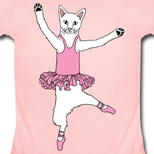 ballet dancing cat Baby & Toddler Shirts - Short Sleeve Baby Bodysuit