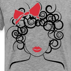 Curly Girl with Red Bow_Global Couture_logo T-Shir - Men's Premium T-Shirt