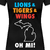 Lions & Tigers & Wings Oh MI! - Women's Premium T-Shirt