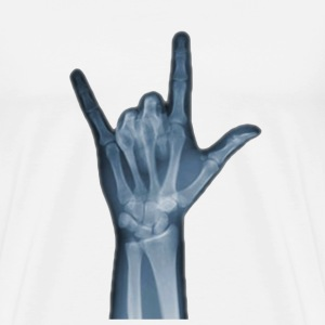 X-Ray Photography Hand Sign T-Shirts - Men's Premium T-Shirt