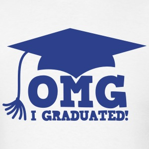 OMG I GRADUATED! with mortar board hat T-Shirts - Men's T-Shirt