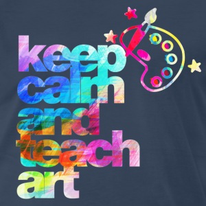 keep calm and teach art T-Shirts - Men's Premium T-Shirt