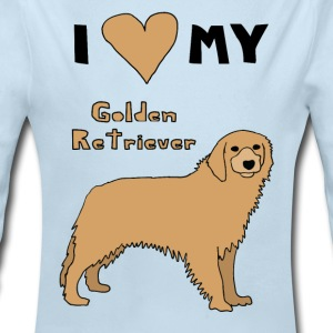 i heart my golden retriever Baby & Toddler Shirts - Long Sleeve Baby Bodysuit