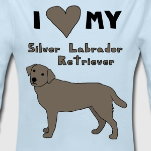 i heart my silver labrador retriever Baby & Toddler Shirts - Long Sleeve Baby Bodysuit