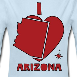 i heart Arizona (red) Baby & Toddler Shirts - Long Sleeve Baby Bodysuit