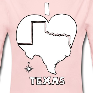 i heart Texas (red) Baby & Toddler Shirts - Long Sleeve Baby Bodysuit