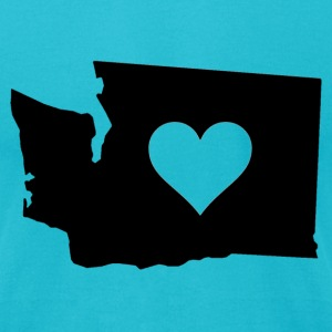 Washington State heart black - Men's T-Shirt by American Apparel