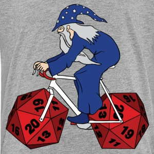 wizard riding bike with 20 sided dice wheels Kids' Shirts - Kids' Premium T-Shirt