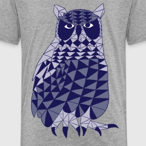 triangle owl (blue) Kids' Shirts - Kids' Premium T-Shirt