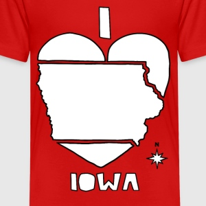 i heart Iowa (white) Kids' Shirts - Kids' Premium T-Shirt