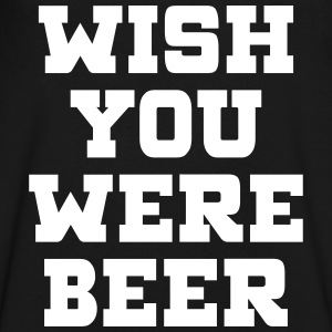 WISH YOU WERE BEER T-Shirts - Men's V-Neck T-Shirt by Canvas