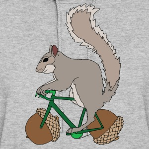 Squirrel on Bike with Accord Wheels Hoodies - Women's Hoodie